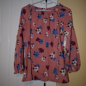 NWT Old Navy Size XL (14) Pink with Flowers